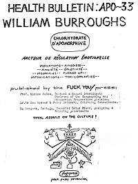 William Burroughs, APO-33, Fuck You Press, title page