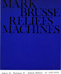 Mark Brusse, Reliefs Machines, 1963, Invite - Front