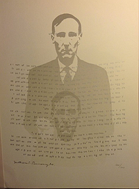 William Burroughs in Ruby Editions, Portfolio 1, 1974