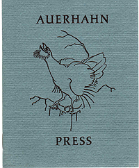 Auerhahn Press, Catalogue, 1962