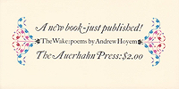 Andrew Hoyem, The Wake, Announcement