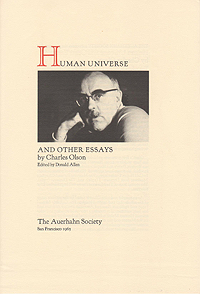 Charles Olson, Human Universe, Announcement