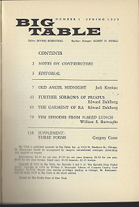 Big Table 1, Table of Contents