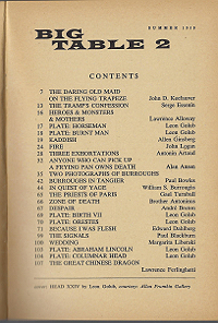 Big Table 2, Table of Contents
