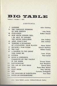Big Table 3, Table of Contents