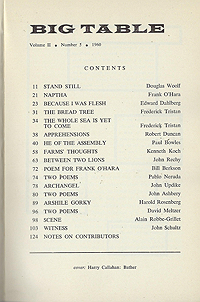 Big Table 5, Table of Contents