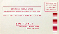 Big Table Subscription Card