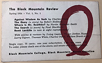 Black Mountain Press promotional card to Sylvia Beach - Back