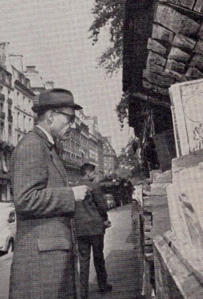 Books and Bookmen, March 1963, photograph of William Burroughs in Paris
