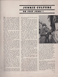 Books and Bookmen, March 1963, Junkie Culture by Ann Beat