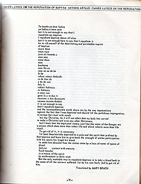 Bulletin from Nothing 1, Antonin Artaud