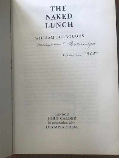 Calder Naked Lunch with a dubious William Burroughs signature