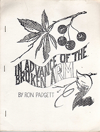 Ron Padgett, In Advance of the Broken Arm, 1964