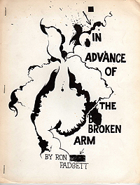 Ron Padgett, In Advance of the Broken Arm, 1965