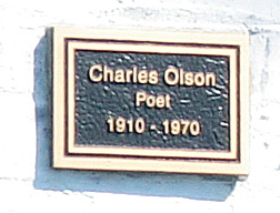Charles Olson Plaque in Gloucester