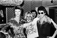 David Bowie, Iggy Pop (with Lucky Strikes), and Lou reed