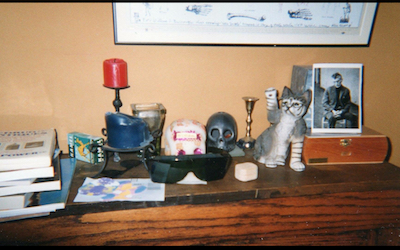 A pack of Kamels on a shelf at William Burroughs' house - photo by Patricia Elliot