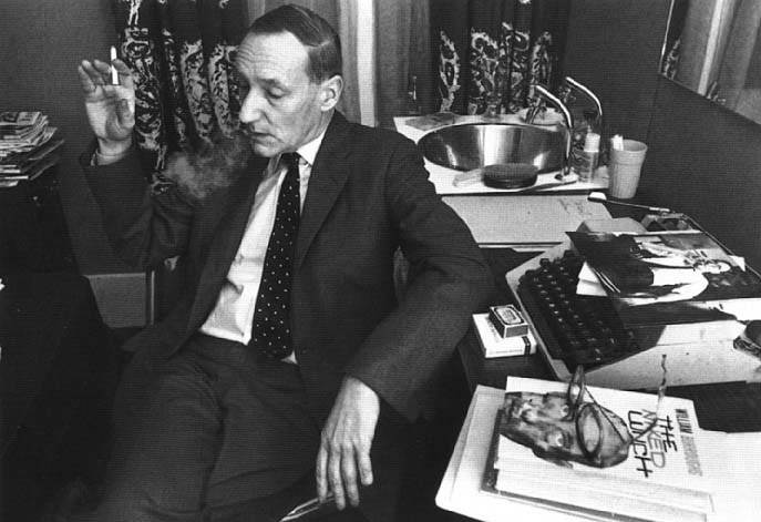 William Burroughs having a smoke