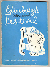1962 Edinburgh International Festival Souvenir Program - Front