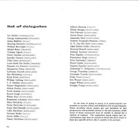 1962 International Writers Conference Program - List of Delegates