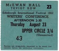1962 International Writers Conference Ticket