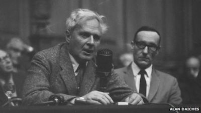 Stephen Spender and William Burroughs at the Edinburgh Writer's Conference, 1962