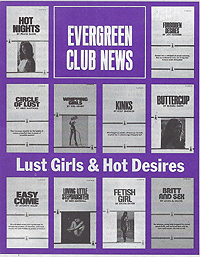 Evergreen Club News, Lust Girls and Hot Desires