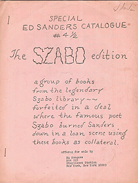 Ed Sanders' Catalogue 4.5