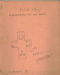 Fuck You, A Magazine of the Arts, Number 3, (June 1962)