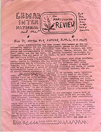 Marijuana Review Handbill