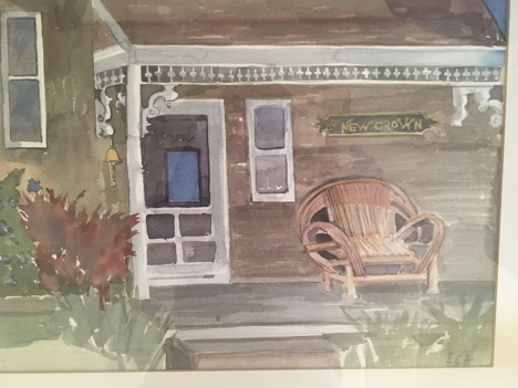 Old Harbor House Painting