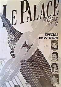 Le Palace Magazine 5, 1981, front cover