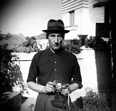 William Burroughs with camera, Tangier