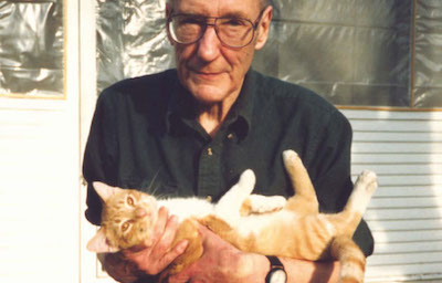 Jim McCrary, William Burroughs with Cat