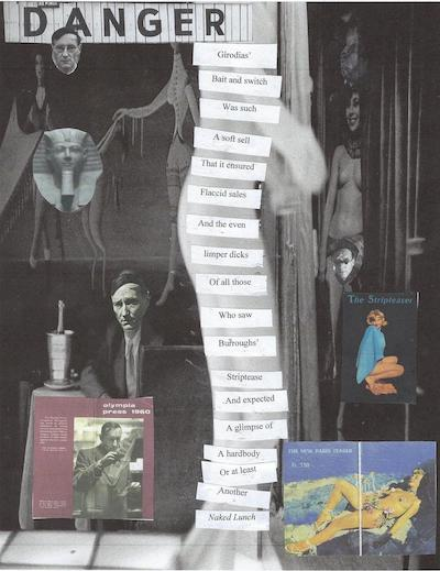 Bill the Stripper, collage by Jed Birmingham