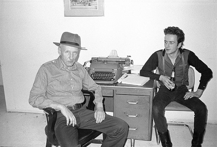 William Burroughs and Joe Strummer (photograph by Victor Bockris)