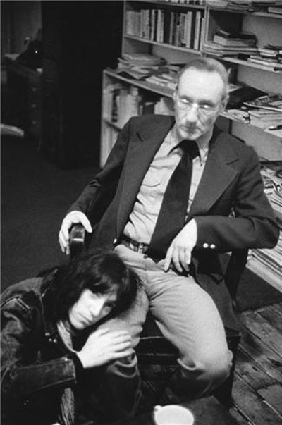 William Burroughs and Patti Smith in blowjob position
