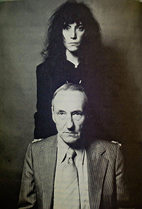 William Burroughs and Patti Smith standing