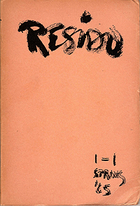 Residu 1, Edited by Barry Miles