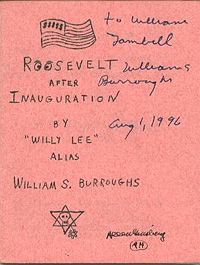 William S. Burroughs, Roosevelt After Inauguration (1964)