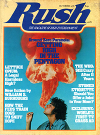 Rush, first issue, October 1976, front cover