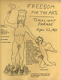 Freedom for the Arts Handbill, 22 April 1964