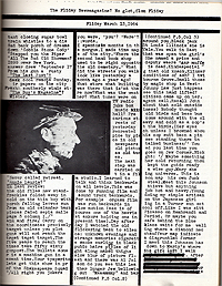A page from William S. Burroughs' Time, C Press, 1965