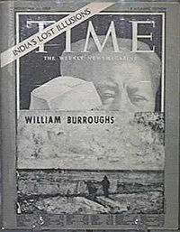 William S. Burroughs, Time, Front Cover