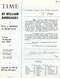 Bootlegged edition of Time (with forged Burroughs signature)