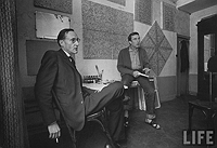 Loomis Dean, William Burroughs and Brion Gysin at the Beat Hotel, 1959