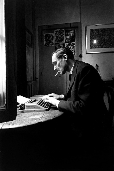 Loomis Dean, William Burroughs writing at the Beat Hotel, 1959