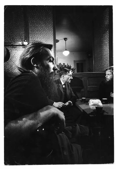 Loomis Dean, William Burroughs in the Beat Hotel cafe, 1959