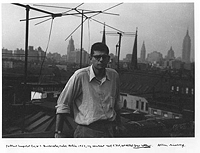 Allen Ginsberg in Fall 1953, snapshop by William S. Burroughs