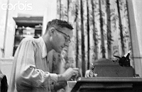 William Burroughs at Typewriter in 1953, Photograph by Allen Ginsberg